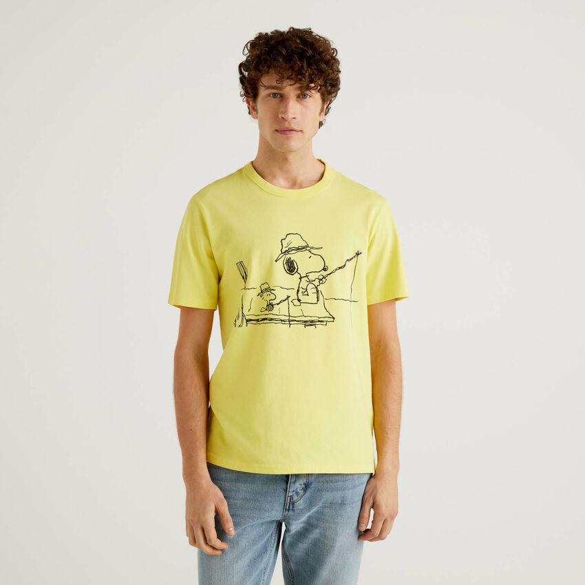 T-shirt Peanuts amarela