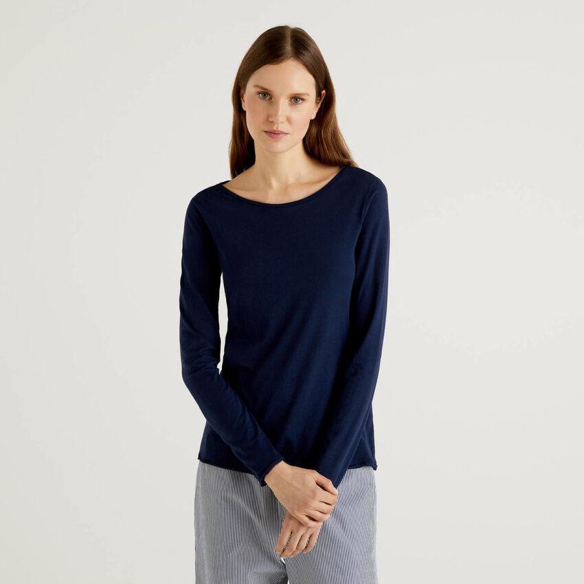 T-shirt em algodão de fibra longa