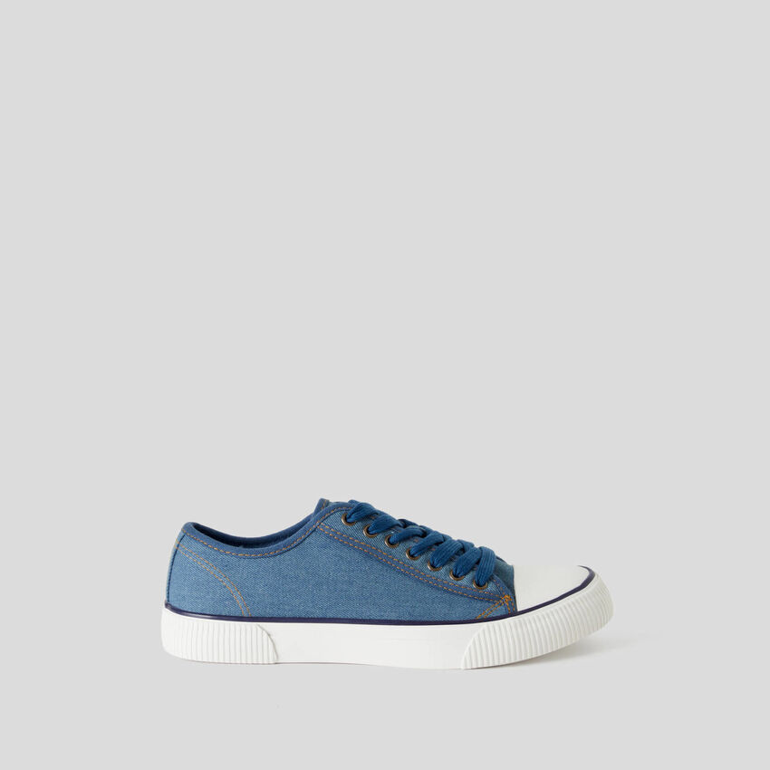 Sneakers em algodão puro