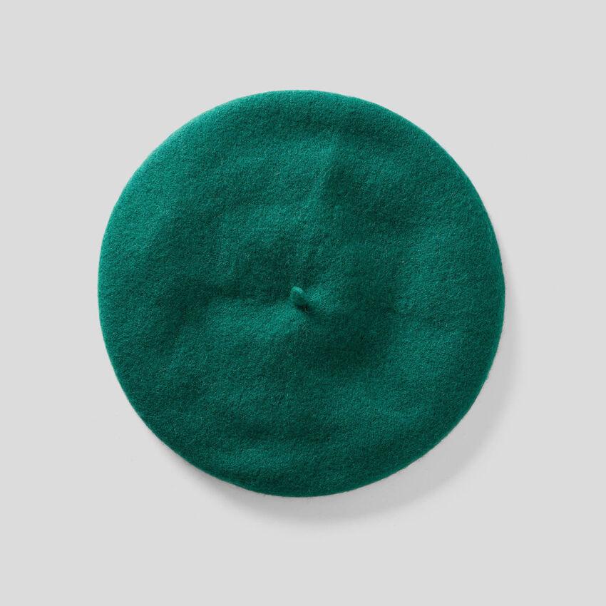 Boina clássica em mescla de lã