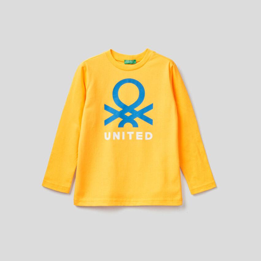 T-shirt de manga comprida em algodão orgânico