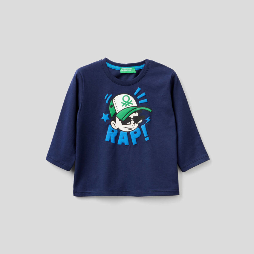 T-shirt em algodão orgânico com estampa